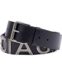 Balenciaga   Logo-lettering Leather Belt   Lyst