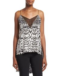 Adam Lippes - High-low Illusion-v Cami Top - Lyst