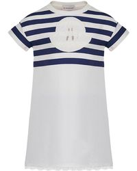 Moncler - Short-sleeve Striped Upper Dress - Lyst