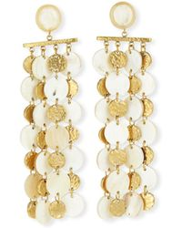 Ashley Pittman - Four-chain Light Horn & Bronze Drop Earrings - Lyst