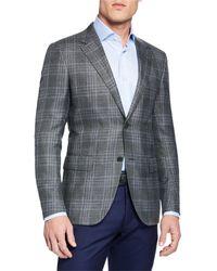 Ermenegildo Zegna - Men's Cashmere/silk Plaid Sport Coat - Lyst