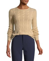 Ralph Lauren Collection - Long-sleeve Cable-knit Cashmere Jumper - Lyst