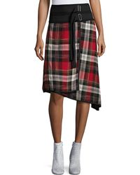 Public School | Ilha Plaid High-waist A-line Skirt | Lyst