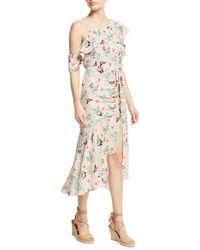 Joie - Jamima Printed One-shoulder Midi Dress - Lyst