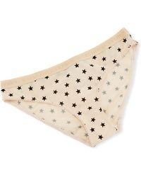 Stella McCartney - Betty Twinkling Star-print Bikini Briefs - Lyst