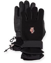 Moncler Grenoble Technical Gloves W/ Leather