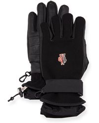 Moncler Grenoble - Technical Gloves W/ Leather - Lyst