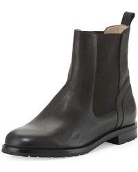 Manolo Blahnik - Chester Leather Chelsea Boot - Lyst