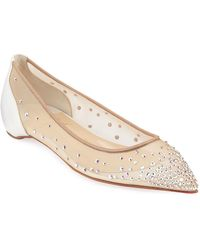 3cde2f06013 Lyst - Christian Louboutin Suzanna Leather Crisscross Red Sole Flat ...