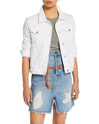 Hudson Jeans - Ruby Contour Button-front Stretch-denim Jacket - Lyst