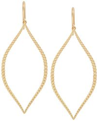 Jamie Wolf - 18k Twisted Marquise Drop Earrings - Lyst
