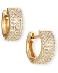 EF Collection - 14k Gold Jumbo Diamond Huggie Earrings - Lyst