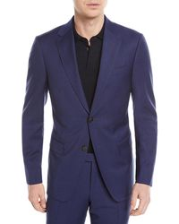 Z Zegna - Tonal Plaid Wool Two-piece Suit - Lyst