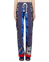 Etro Striped Patchwork Pajama Pants With Rope Belt
