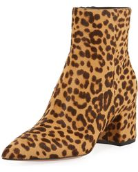 Gianvito Rossi - Leopard 60mm Pointed-toe Booties - Lyst