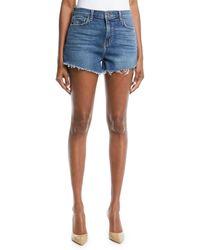 L'Agence - Ryland Denim Cutoff Shorts W/ Fray Hem - Lyst