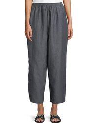 Eskandar - Cropped Japanese Trousers - Lyst