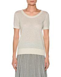 Agnona - Short-sleeve Metallic Knit T-shirt - Lyst