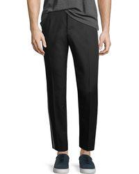 Dolce & Gabbana - Stretch-cotton Chinos W/ Racing Stripes - Lyst