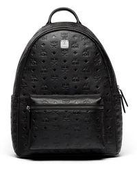 MCM - Ottomar Men's Logo-embossed Leather Backpack - Lyst