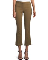 Theory - Mid-rise Bi-stretch Kick-flare Cropped Pants - Lyst