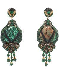 Ranjana Khan - Beaded Agate Drop Clip-on Earrings - Lyst