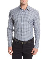 Brioni - Long-sleeve Check Sport Shirt - Lyst