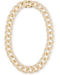 Fallon - Armure Cubic Zirconia Pavé Curb Chain Collar Necklace - Lyst