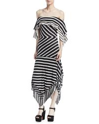 Tabula Rasa - Malick Off-the-shoulder Striped Cotton Handkerchief Dress - Lyst