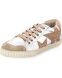 Ash - Mixed Leather Stars Sneakers - Lyst