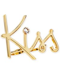 Lanvin - Two-finger Golden Kiss Ring - Lyst