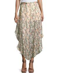 Haute Hippie - Anastasia Slayer Pleated Tulip Maxi Skirt - Lyst