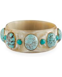 Ashley Pittman | Michezo Light Horn & Turquoise Bangle | Lyst