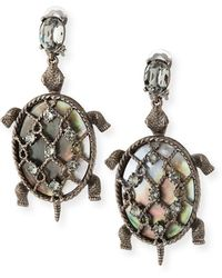 Oscar de la Renta - Shell Turtle Earrings - Lyst