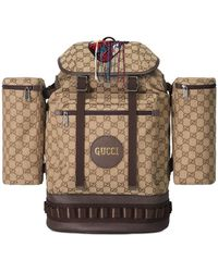9715a1c670f8 Gucci - Men's GG Canvas Flap-top Backpack - Lyst