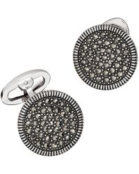 Jan Leslie - Round Marcasite Cuff Links - Lyst