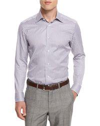 Ermenegildo Zegna - Bold-striped Long-sleeve Sport Shirt - Lyst