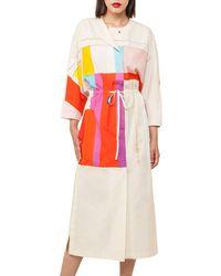 Akris - Mural-print Muslin Kimono Dress - Lyst
