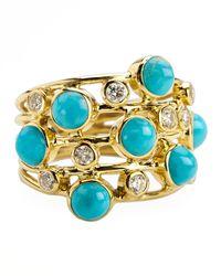 Ippolita - Turquoise & Diamond Constellation Ring - Lyst