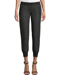 Norma Kamali - Quilted Pull-on Jogger Pants - Lyst