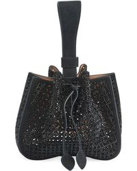 Alaïa - Rose Marie Wristlet Small Bucket Bag - Lyst