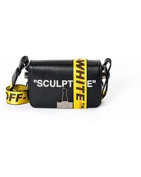 Off-White c/o Virgil Abloh - Sculpture Saffiano Leather Flap Crossbody Bag With Binder Clip - Lyst