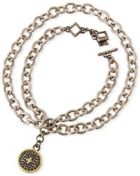 Armenta - Old World Chain-wrap Diamond Disc Bracelet - Lyst