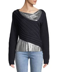 3.1 Phillip Lim - Chunky Chainmail-paneled Jumper - Lyst