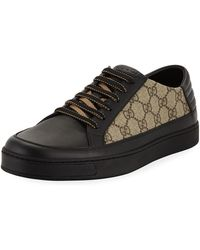 194f5cfb0758 Lyst - Gucci Common Gg Supreme Low-top Sneaker in Blue for Men