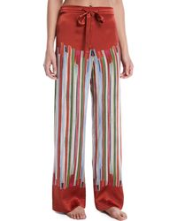Meng - Striped Silk Pyjama Trousers - Lyst