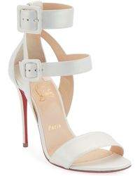 bba9c235ad68 Christian Louboutin Patinana Strass Red Sole Sandal in Natural - Lyst