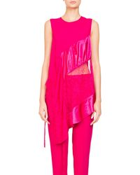 Givenchy - Slvlss Mix Media Silk Lace I - Lyst
