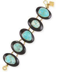 Ashley Pittman - Dark Horn & Turquoise Bracelet - Lyst