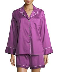 Natori - Sateen Essentials Short Pajama Set - Lyst